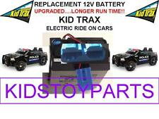 NEW! LONG LASTING DODGE SWAT CAR KID TRAX 12V 15AH  BATTERY BLUE W/PLUG