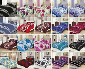 4 Pieces PCS Complete Bed Sets Duvet Cover with Fitted Sheet Or Valance Sheet