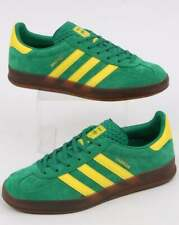 adidas Gazelle Indoor Trainers in Green & Yellow suede, gum sole, shoes SALE