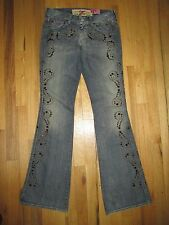 7 Seven For All Man Kinds Jeans Rhinestones Brass Studs USA Women's 26 USA ME30