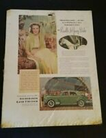 Vintage Studebaker Land Cruiser Priscilla Duke Car Advertisement 1950's Paper Ad