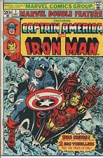 Marvel Comics Double Feature #1 Featuring Captain America and Iron Man, 1973