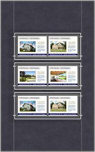 A4 LED Single Sided Pockets - Landscape 2x3 Display