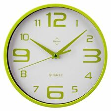 Premier Housewares Wall Clock, Lime Green/White, Plastic