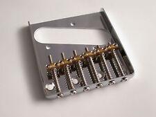 Chrome Tele Telecaster Vintage Style Bridge with Individual Brass saddles