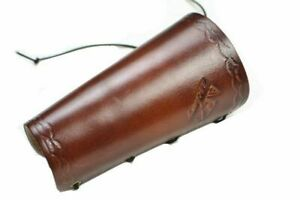1pc Archery Brown Leather Arm Guard Outoor Shooting Accessory Adjustable