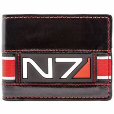 NEW OFFICIAL MASS EFFECT 3 N7 GAME COMMANDER LOGO BLACK BI-FOLD BI-FOLD WALLET