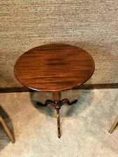 PRISTINE VINTAGE Early 20th Century Queen Anne Victorian Era Tilt Top Table 24