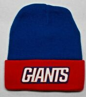 READ LISTING! New York Giants HEAT Applied Flat Logo on Beanie Knit Cap hat