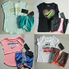New listing Nike Girls 2T or 3T or 4T Summer Lined Dri-fit Shorts & Tops 4 Outfits $175