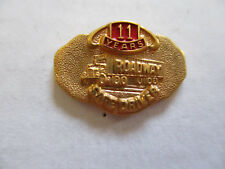 vintage Roadway 11yr Trucker Trucking Safety Award Safe Driving Pin