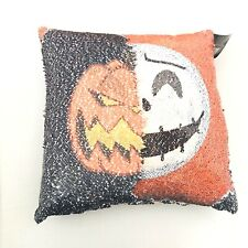 Disney Nightmare Before Christmas Jack Pumpkin King Sequin Flip Pillow