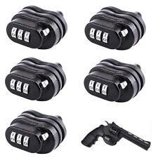 5x Universal 3 Digit Combo Trigger Gun Lock Fit Pistols Rifles Shotguns Hunting
