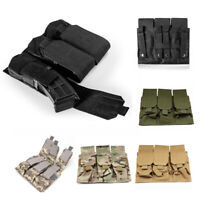Tactiacl Rifle Magazine Pouch Close Holster Tactical Molle Triple Pistol Mag Bag