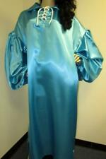 Plus Size Satin! Turquoise Satin Gown / Satin Dress