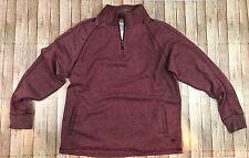 Margaritaville Men's Burgundy ¼ Zip Sweatshirt Size M NWT