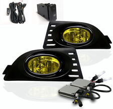 2005 2006 2007 ACURA RSX 2DR FRONT LOWER BUMPER YELLOW FOG LIGHTS LAMP+6000K HID