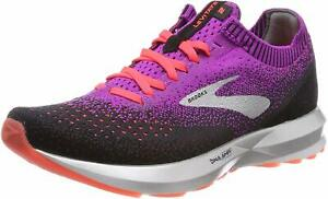 Brooks Womens Levitate 2 Running Shoes, Purple/Fiery Coral/Black