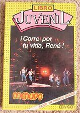 LIBRO JUVENIL, Corre por tu vida, Rene , MENUDO, Ricky Martin, ROY, TV Y NOVELAS