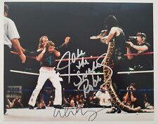 Alice Cooper & Jake The Snake Roberts Signed 11x14 Photo Wrestlemania WWF RAD