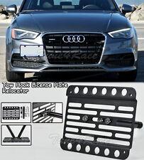 For 15-Up Audi A3 S3 8V Front Tow Hook License Plate Relocator Bracket Sedan 4Dr