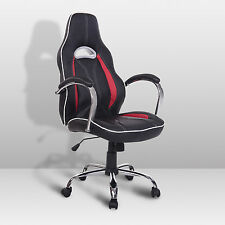 HOMCOM Racing Office Chair High Back PU Leather Computer Desk Swivel Seat