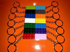 15 x NEW ASSORTED LEGO BRICK KEYRINGS BIRTHDAY KIDS PARTY BAG