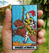 KNIGHT of WANDS God Good lucky Fortune Gipse Embroidered-Iron-On-Sew-On-Patches