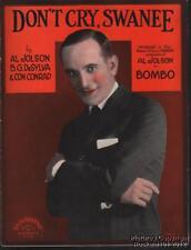 1923 Jolson, Desylva, & Conrad Theater ( Bombo )Música( Don'T Cry Émbolo)