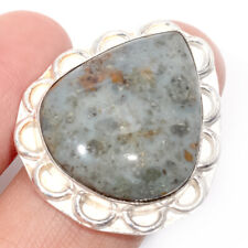 Ocean Jasper Gemstone Handmade 925 Sterling Silver jewelry Ring Size 9 0627