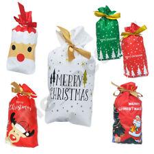 10/20x Christmas Gift Party Bags Sacks Reusable Drawstring Wrap Present Storage