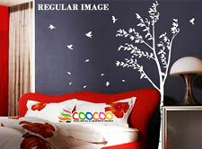 "Wall Decor Decal Sticker Removable sigle tree trunk 72""H with birds DC0265"