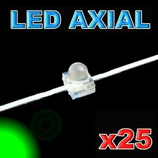 374/25#LED axial 1,8mm verte  25pcs
