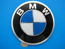 BMW Wheel Hub Cap Badge 45mm Aluminium Self Adhesive GENUINE