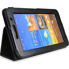 "PU LEATHER COVER CASE FOR SAMSUNG GALAXY TAB 7"" PLUS P6200 P6210 BLACK"