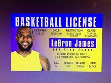 fun Los Angeles Lakers basketball Lebron James fake Id i.d card Drivers License