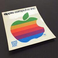 Vintage Apple Rainbow Logo Sticker, 1980 Apple II Plus, Apple Computer Inc.