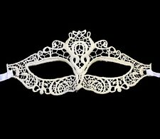 Masque dentelle blanc sexy gothique/ Halloween/masquerade erotic white lace mask