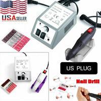 Electric Nail Drill Manicure Art Acrylic File Set Kit Pedicure Tool Set Machine