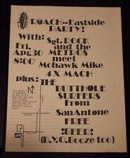 BUTTHOLE SURFERS Dallas TEXAS (1982) Vintage Punk Flyer