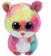 "TY Beanie Boos Rodney the Pink Hamster 6"" Plush Small (New) Stuffed Glitter Eye"