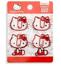 4 Pcs Hello Kitty Note Office Paper Clip School Supplies Study Article Bookmark