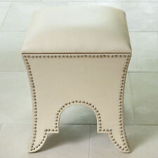 Leather Oat Moroccan Poof