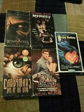 Wishmaster 2 + Candyman 3 + Evil Dead + Sleepy Hollow + Sasquatch (Vhs x 5) Lot