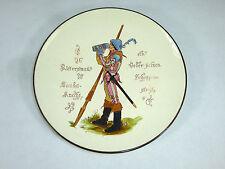Geritzter seltener Keramik Teller um 1860 Sarreguemines Mettlach ? Ritter Bier