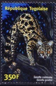 Togo 2001 MNH, Genette Commune, Wild Animals