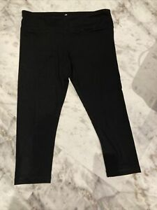 Ladies Black Cropped Reflex Workout Leggings New Without Tags Size Xl