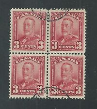 CANADA # 151 Used KING GEORGE V, Block of Four  * KEY VALUE* (8971)