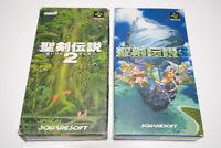 Seiken Densetsu 2 3 set Nintendo Super Famicom SNES Japan Box Manual