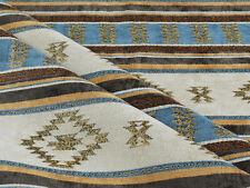Upholstery fabric Kilim ethnic southwestern Tucson Native blue American textile